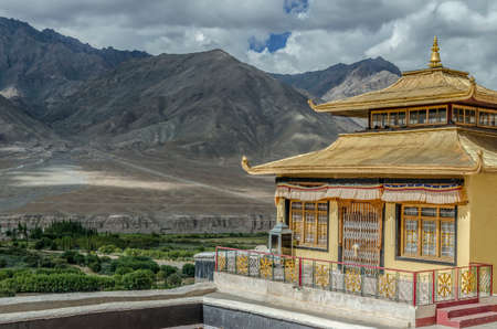 Skudung Lhakhang in Spituk Gompa or Pethup Gompa,Leh, Ladach, India. Stock Photo