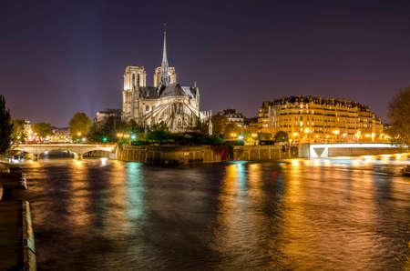 Cathedral Notre-Dame de Paris  France   Stock Photo