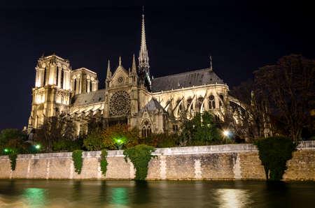 Cathedral Notre-Dame de Paris  France  View from the Quais de Seine