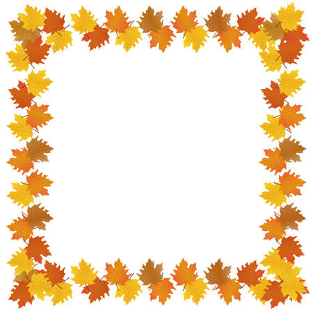 Autumn background. square marketing gold halloween or thanksgiving vector frrame banners.