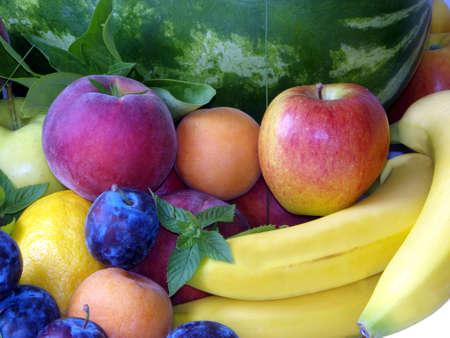 Fresh fruits mix Stock Photo