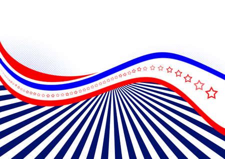 USA flag abstract