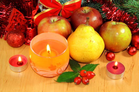 Christmas fruits atmosphere