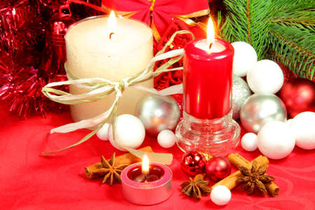 Christmas red atmosphere Stock Photo