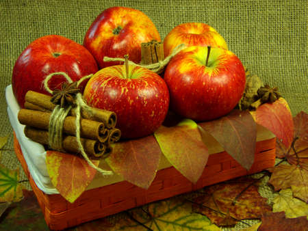 Autumn Apple basket photo