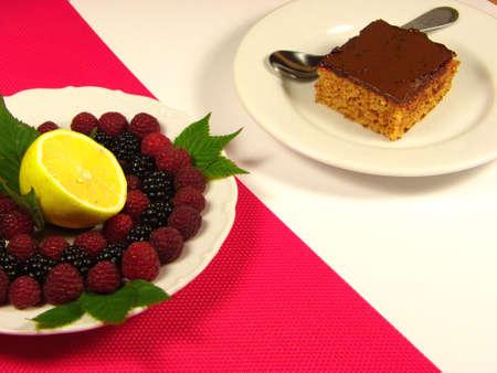 Cake versus fruits