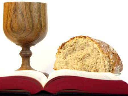 pan y vino: �ltima Cena Foto de archivo