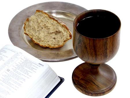 santa cena: Comunión Foto de archivo