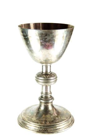 Chlice on white background