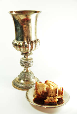 santa cena: Elementos cristianos Foto de archivo