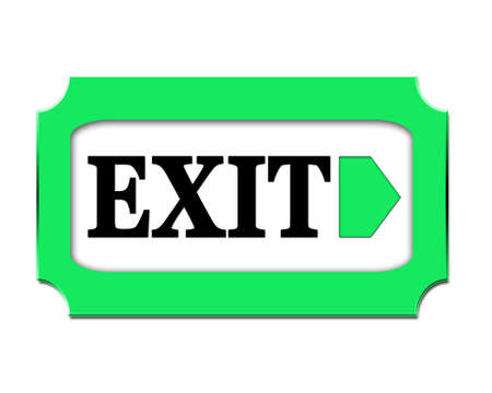 exit sign: Exit sign right Stock Photo