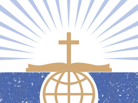 vangelo aperto: Simboli astratti cristiani Archivio Fotografico
