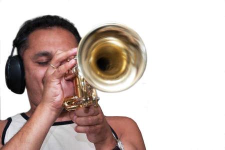Studio trumpet player