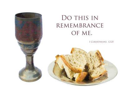 santa cena: �ltima cena en el fondo blanco Foto de archivo