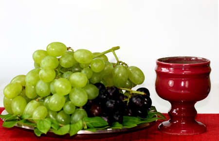sacramental: Grapes and chalice