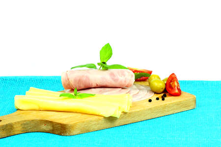 dinne: Salami and cheese