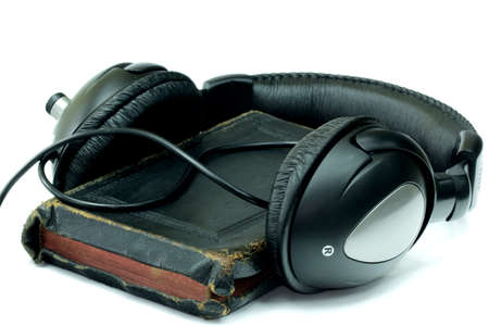personal god: Bible and headphones