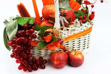 Autumn artificial basket