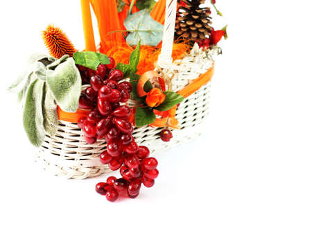 faked: Autumn basket Stock Photo