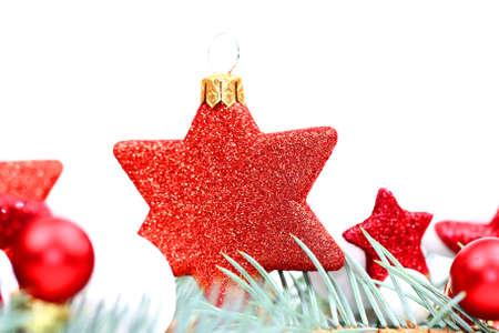Christmas red star Stock Photo