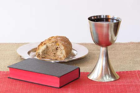 santa cena: Símbolos sacrificio santo