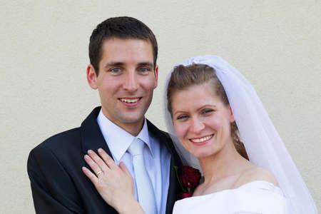 Just married portrait