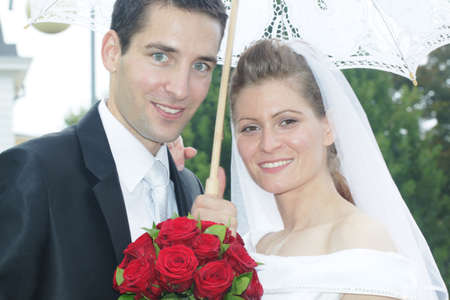 Young married couple portrait Stock Photo