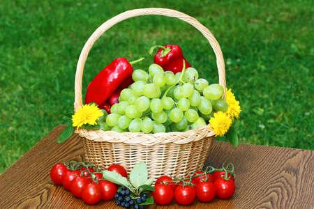Vegetarian and fuits Stock Photo