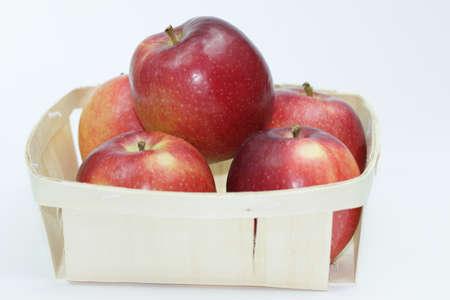 Apples on white background 写真素材