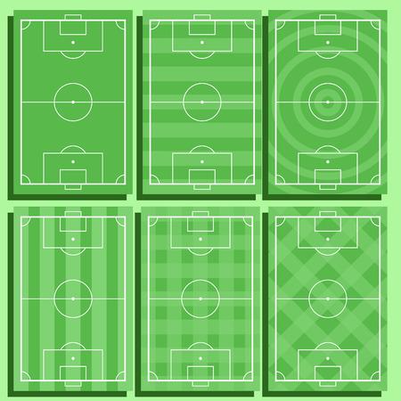Football court set Standard-Bild - 101748478