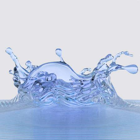 blu: Splash water Stock Photo