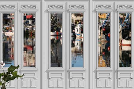 view through door: View through door on the port