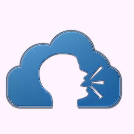 Nuvola con simbolo uomo che parla