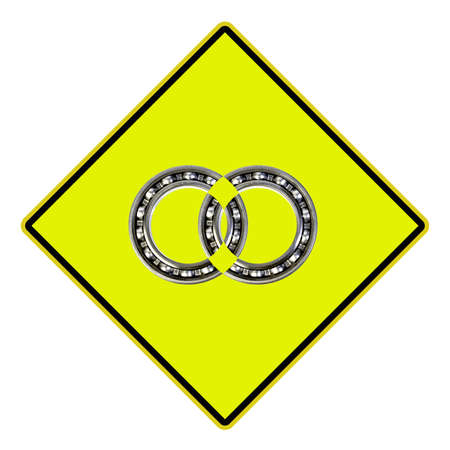 USA Road sign Indicating ball bearings, the concept of work photo