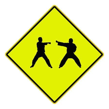 karat: USA Road sign Indicating karat