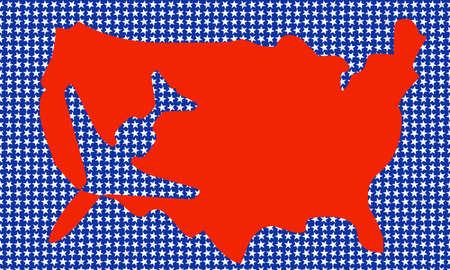 indication: USA map with indication plane