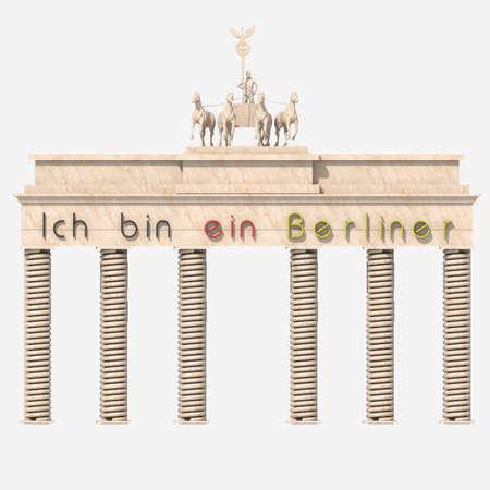 """Brandenburg Gate 3D  """"Ich bin ein Berliner """" photo"""