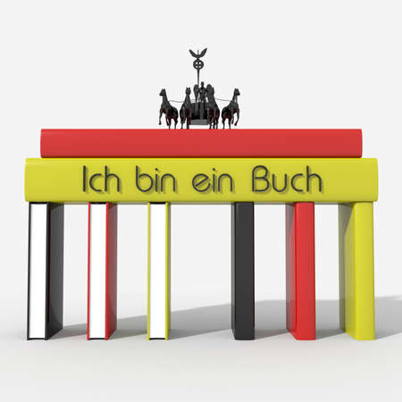 Brandenburg Gate with books colors and Germany \ Ich bin ein Buch \ photo