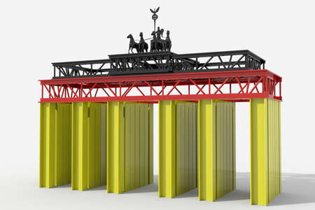 Brandenburg Gate with pylons colors Germany photo