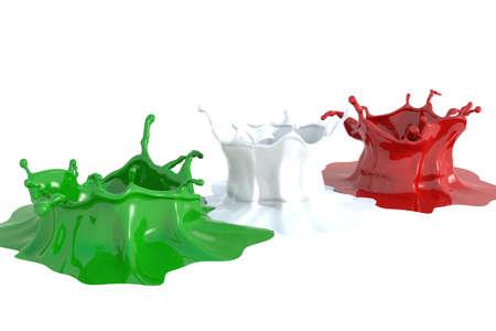 liquid state: Splash color Italy