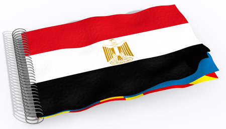 flag of egypt: flag Egypt Stock Photo
