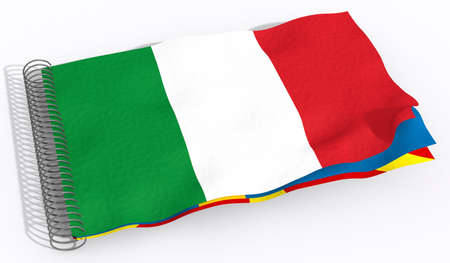 emblem of ukraine: flag Italy Stock Photo