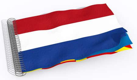 netherlands: flag Netherlands Stock Photo