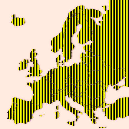 Europe Map 3D textured Stock Photo