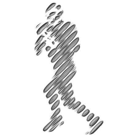football silhouette: Football silhouette