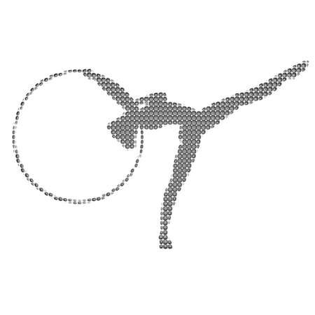 gymnastics silhouette: Gymnastics silhouette Stock Photo