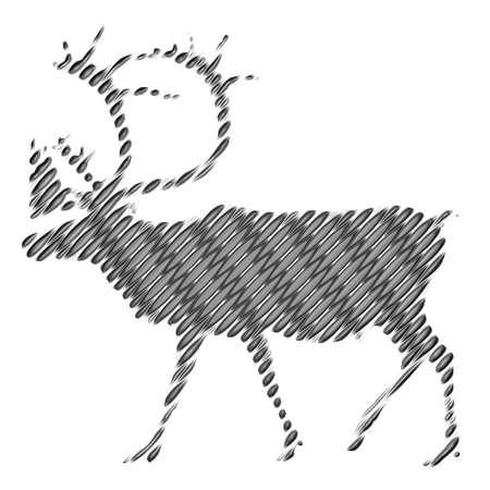 black deer: Black deer grunge