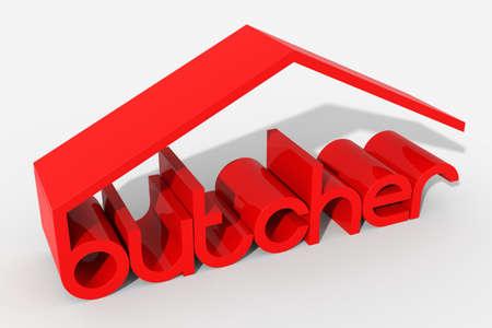 butcher s shop: 3D  butcher  shaped building