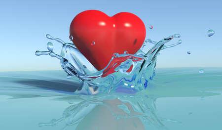 liquid state: Splash with heart