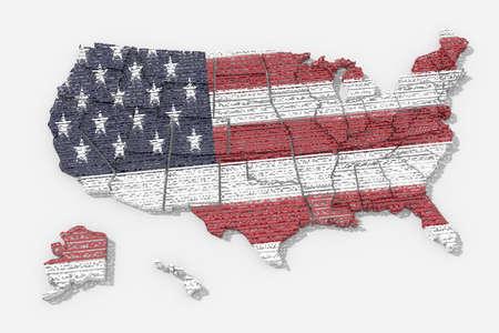 united  states of america: Mappa Stati Uniti America texture Archivio Fotografico